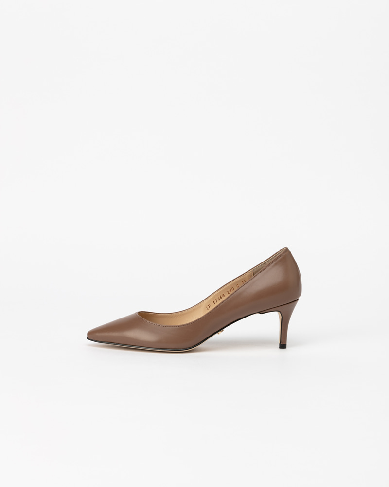Amande Pumps in Cocoa Grey Calf