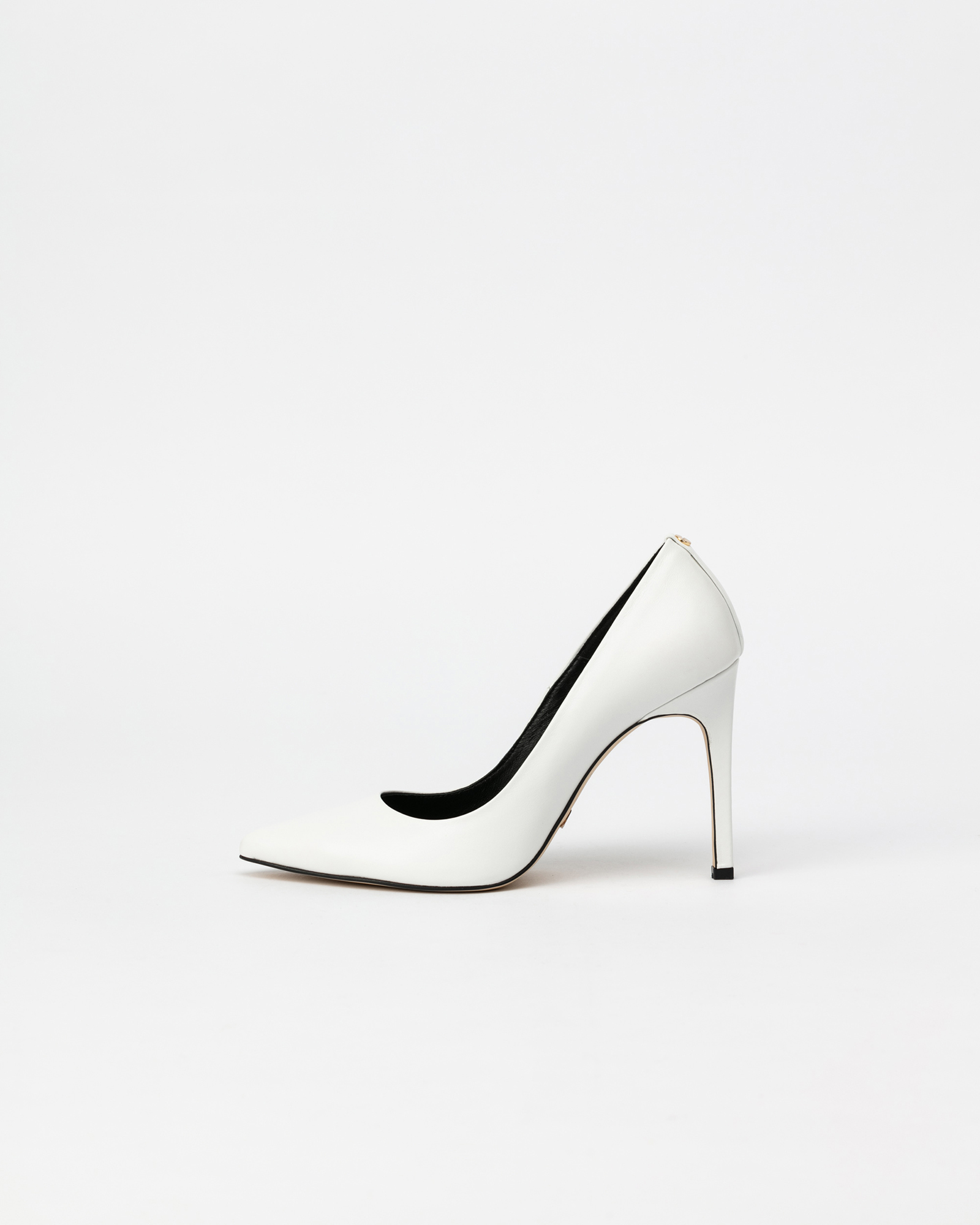 Boulon Stiletto Pumps in Pure White