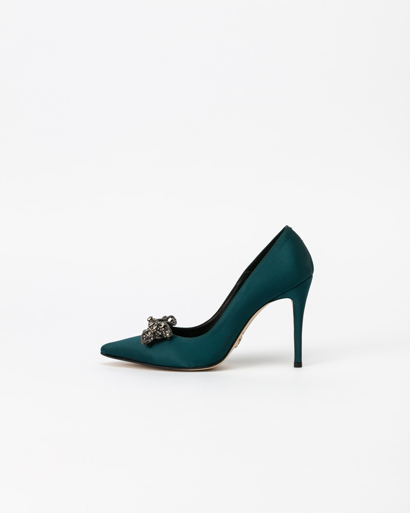 Dalpin Jeweled Pumps in Green