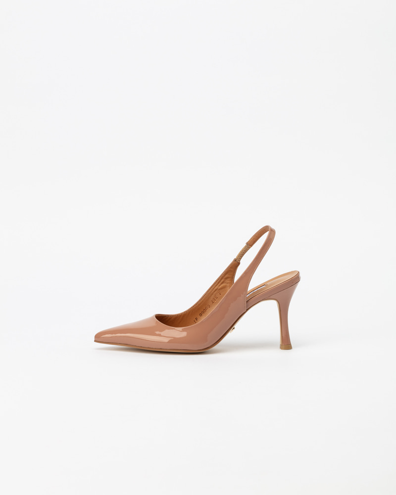 Philo High Slingbacks in Neo Indy Pink Patent