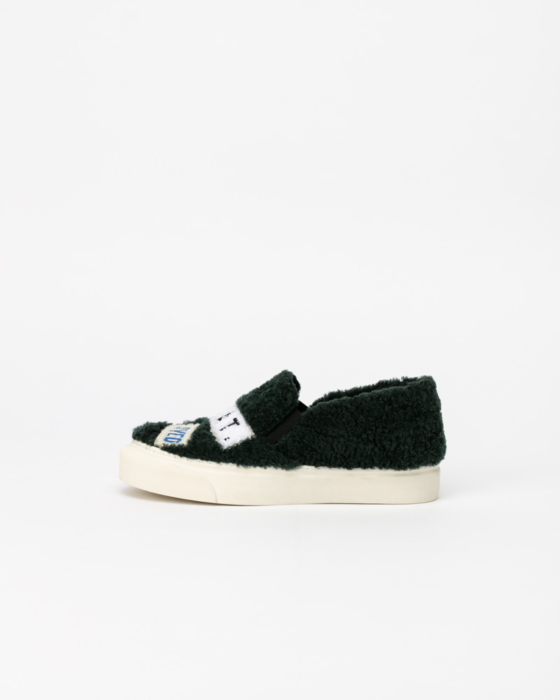 Puggy Sneakers in Green Fur