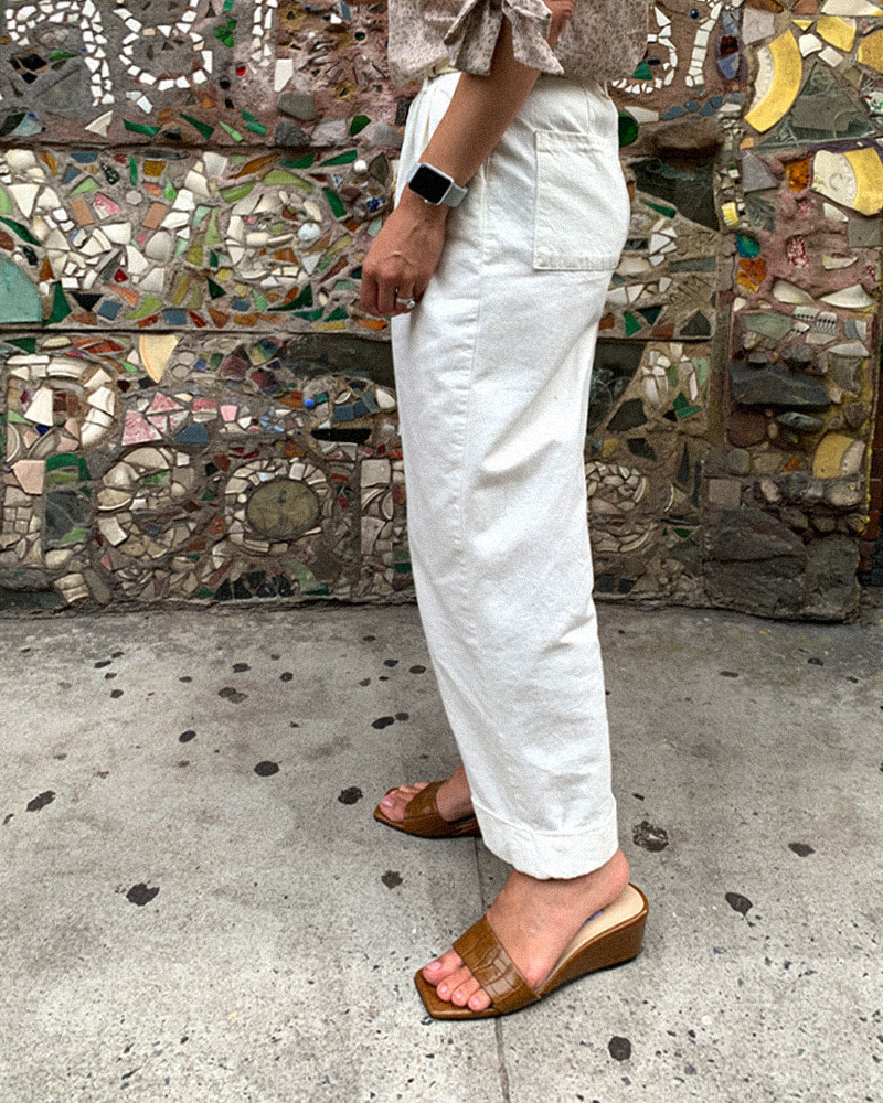 Surminimal Wedge Mules / East Village, New York, NY / 2019