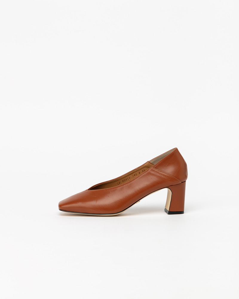 Michelle Pumps in Brown Calf