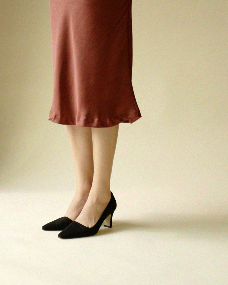 Hilma Pumps in Black Suede