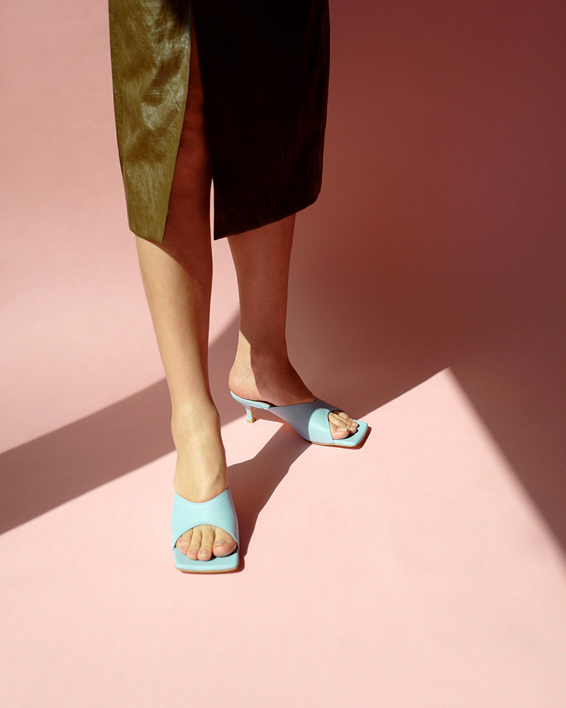 Zoey Mules in Normal Sky Blue