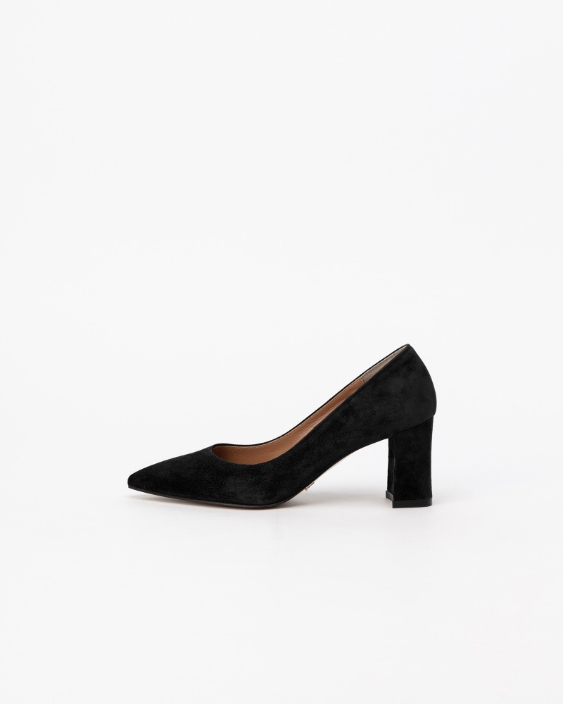 Naff Pumps in Black Suede