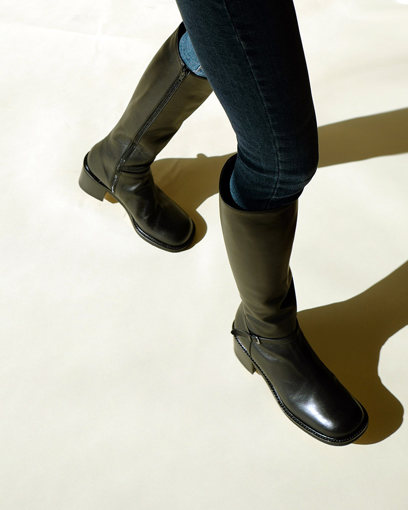 Bezzi Riding Boots in Regular Black