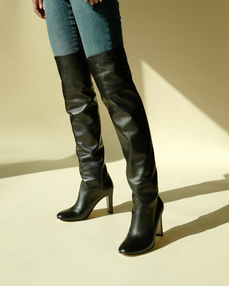 Lou Over-the-knee Boots in Black