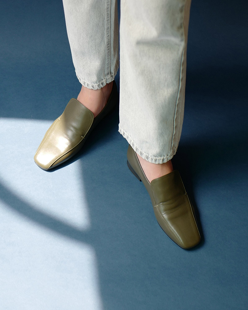 Palais Slip-on Loafers in Heavy Khaki