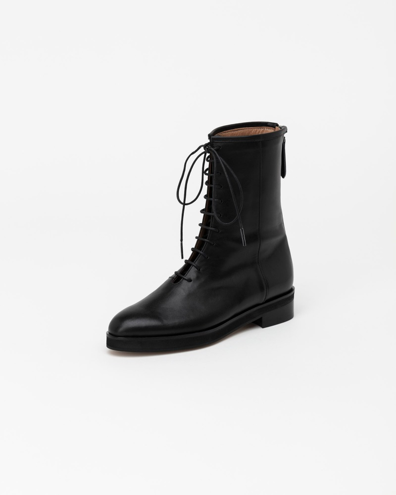 Lenma Lace-up Combat Boots in Regular Black