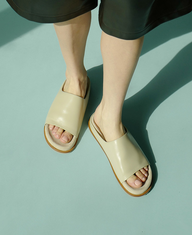 Belmore Super Soft Slides in Ice Gray