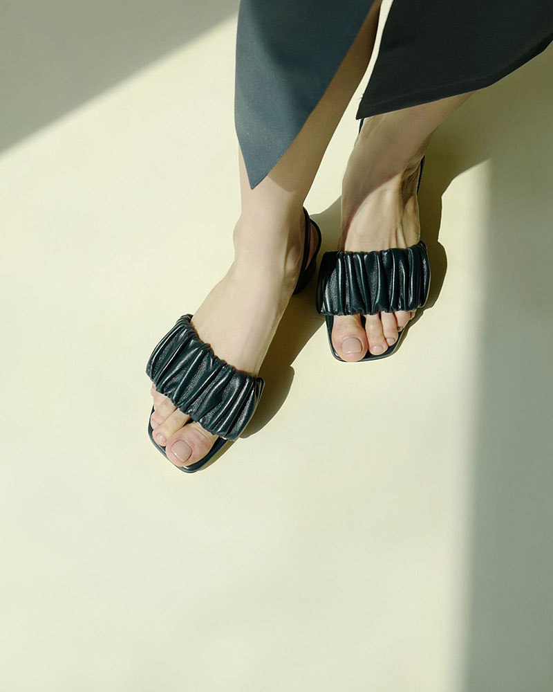 Solina Sandals in Midnight Navy