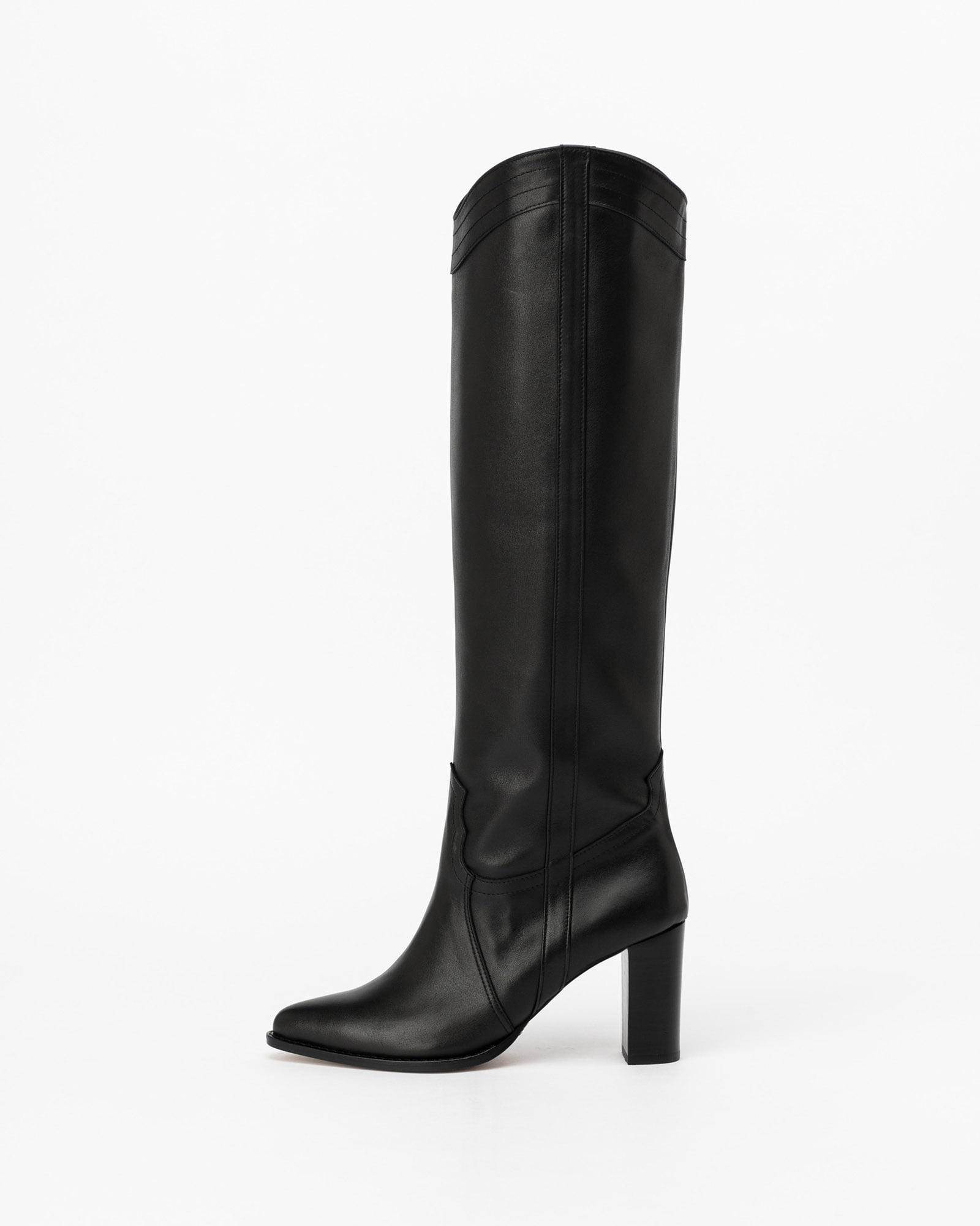 Tanae Cowboy Boots in Black