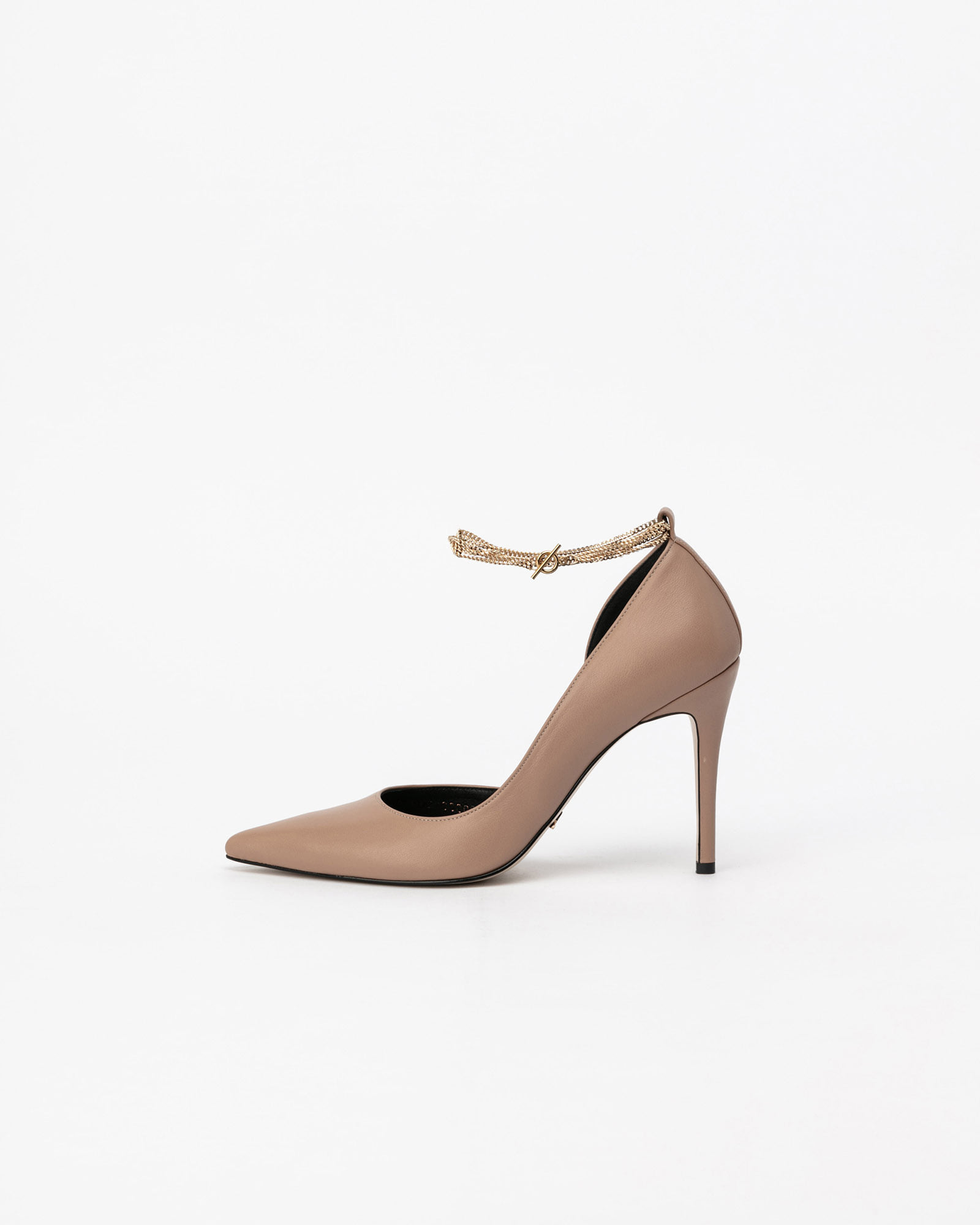 Cinque Chained Stiletto Pumps in Pinkish Beige