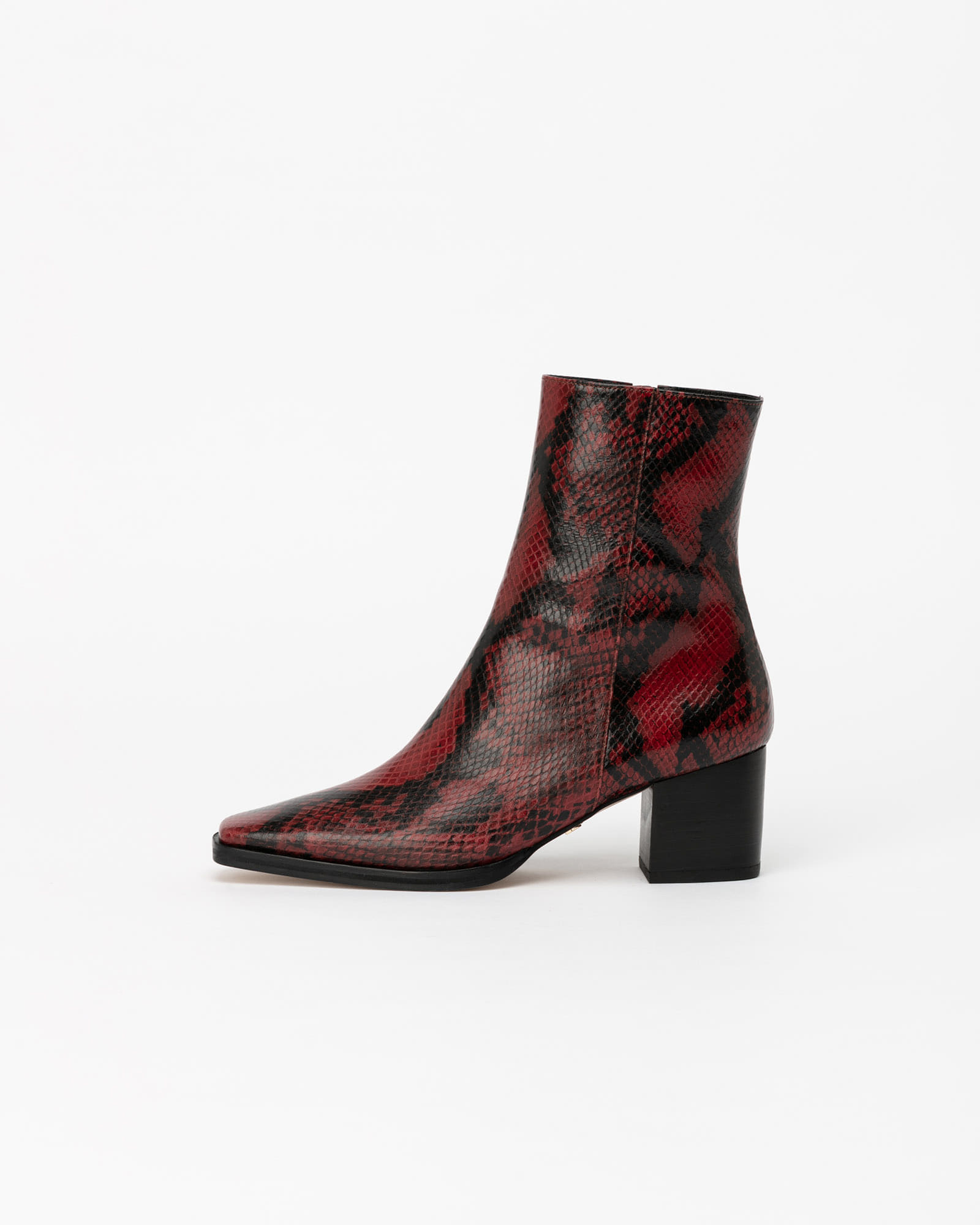 Mariana Boots in Red Python Prints