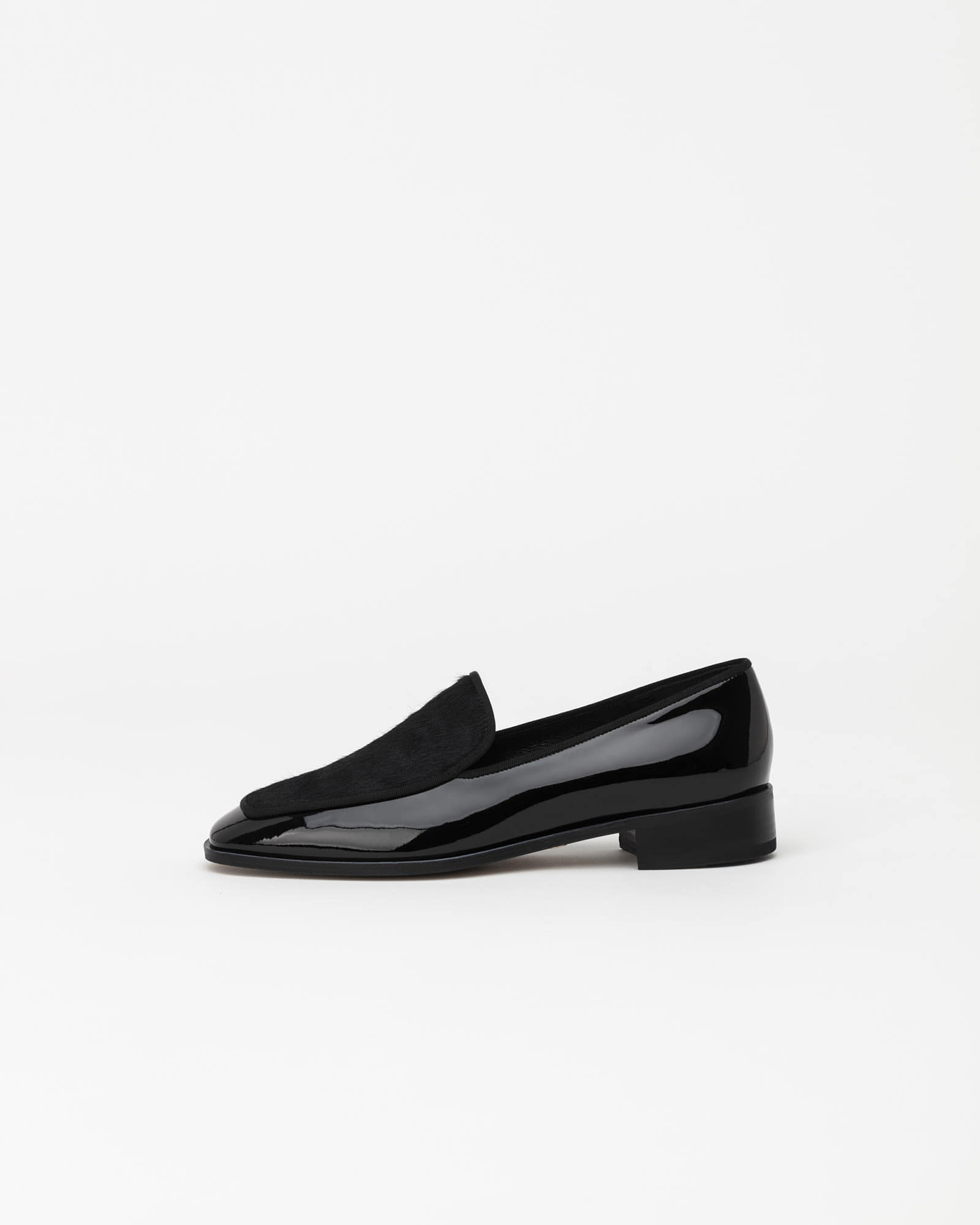 Cecil Calf Hair Loafers in Black