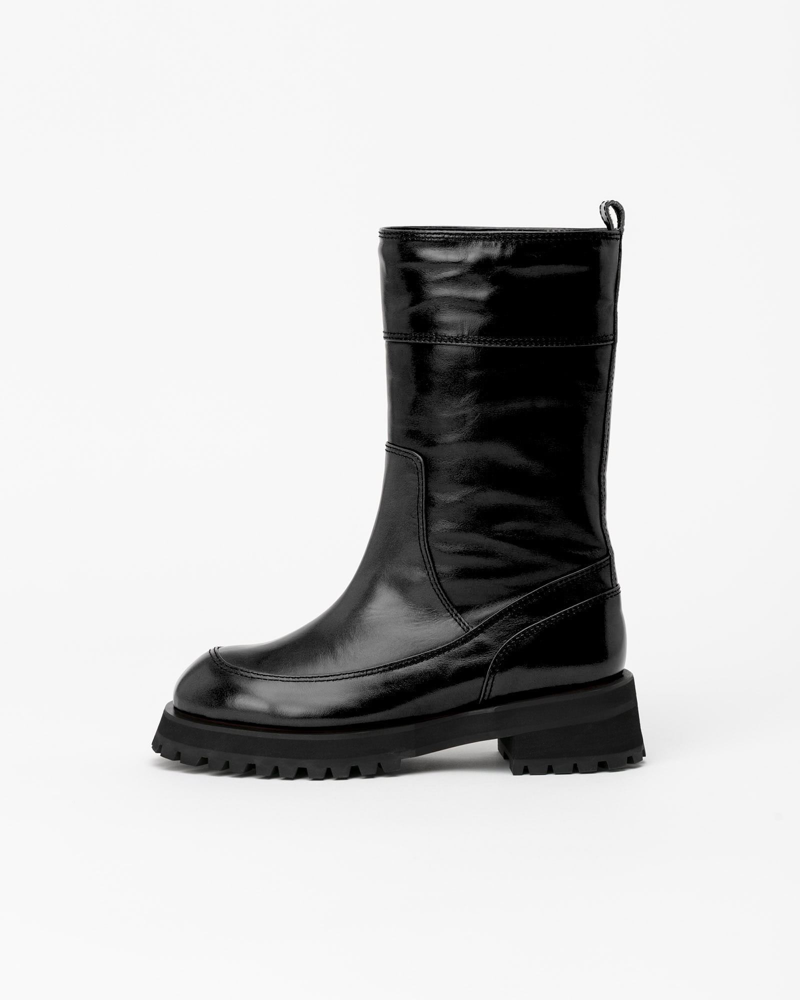 Brica Fur Lining Boots in Textured Black