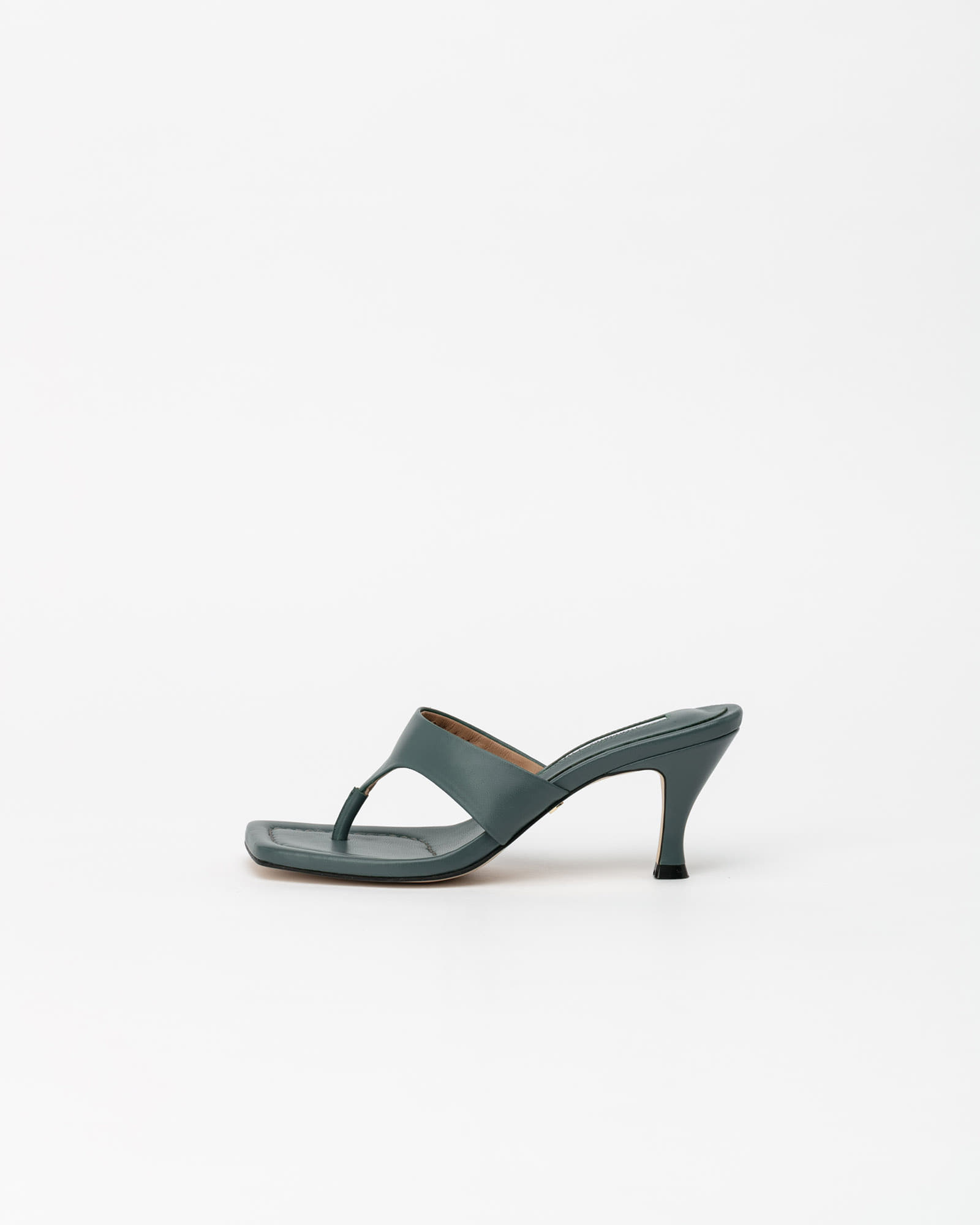 Maggy Thong Mules in Grayish Navy