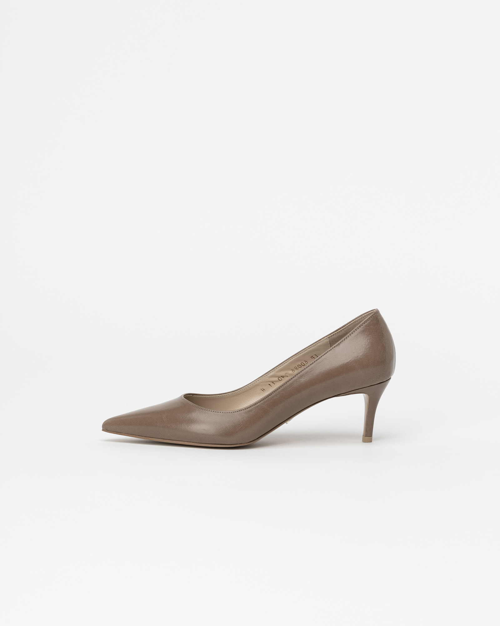 Chauffeur Stiletto Pumps in Textured Cocoa Brown