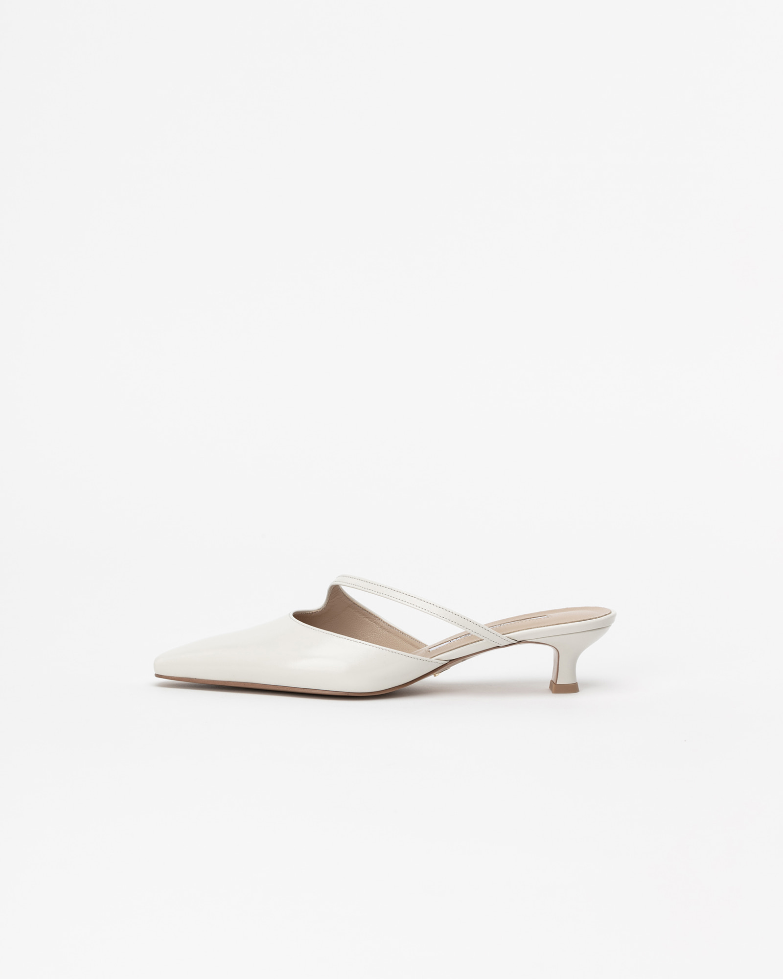 Serenade Mules in Textured Ivory