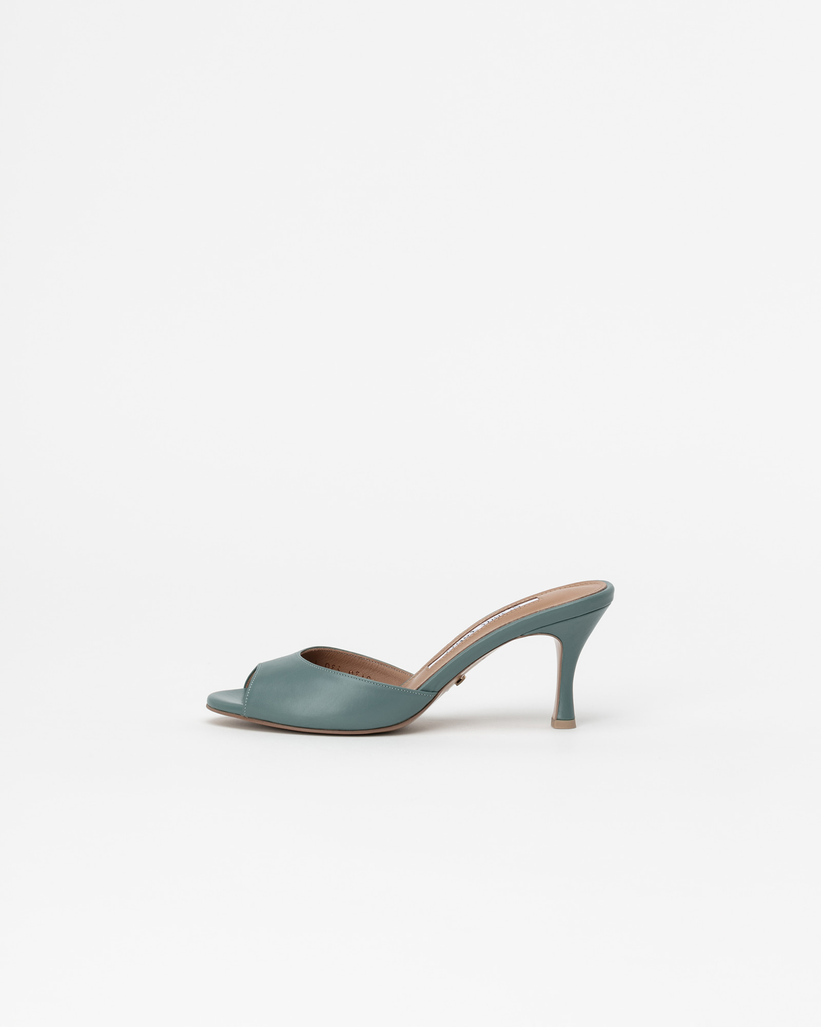 Chartres Mules in Mint Blue Baby Calf