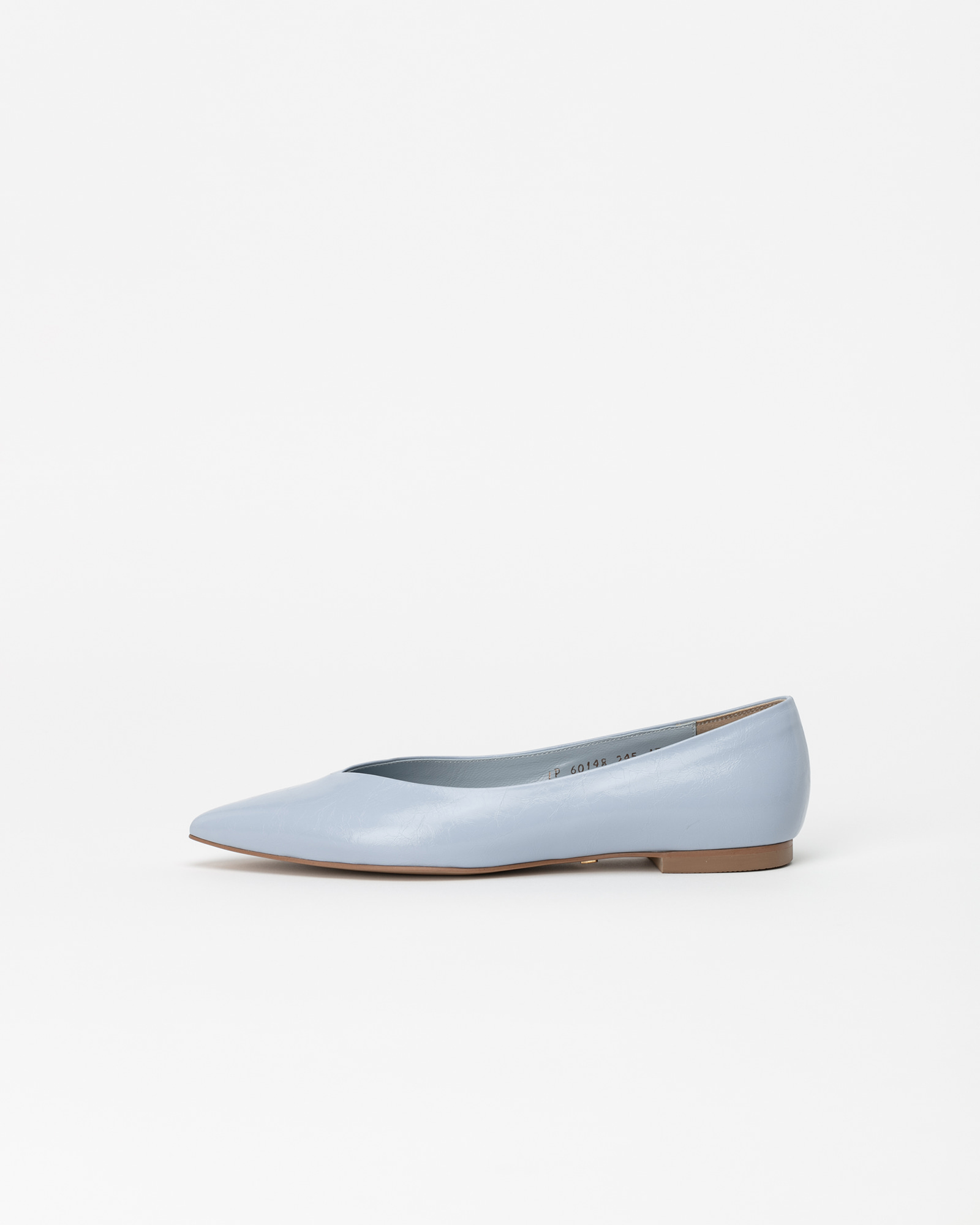 Preta Flat Shoes in Wrinkled baby blue