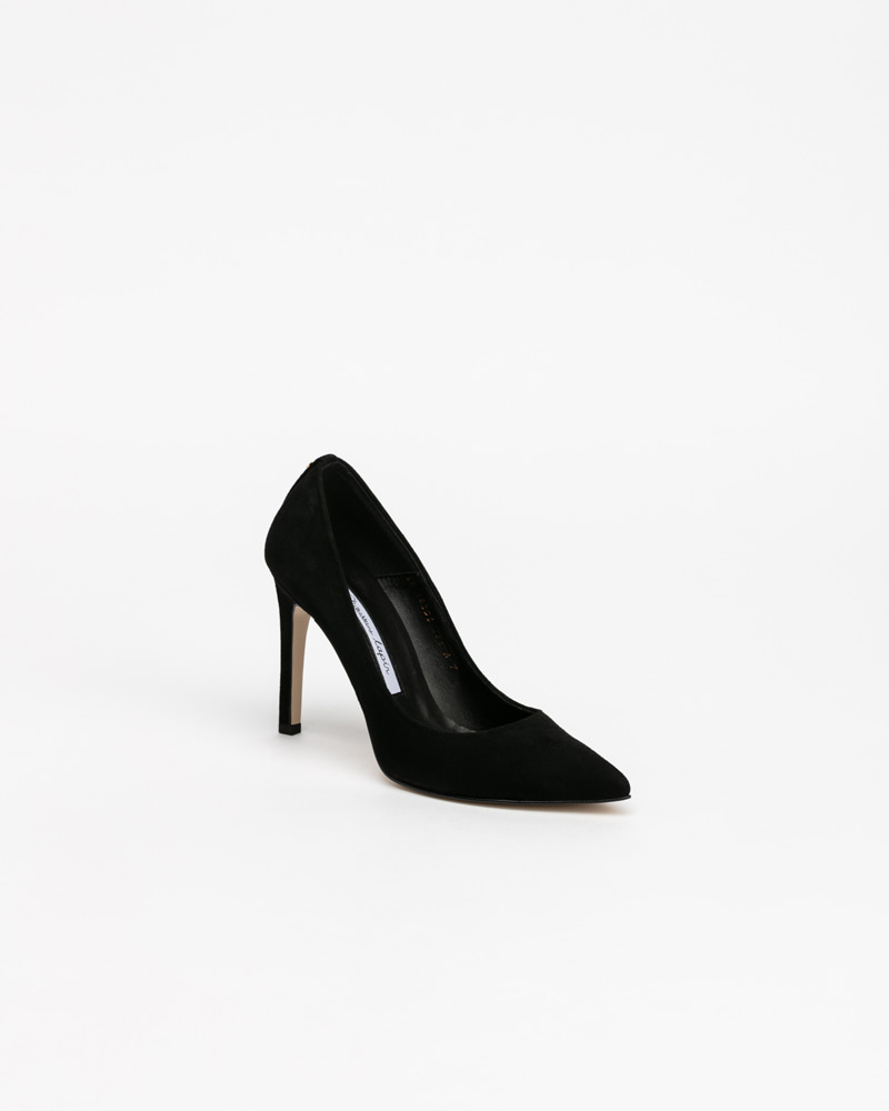 Boulon Stiletto Pumps in Black Suede