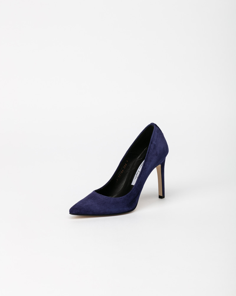 Boulon Stiletto  Pumps in Ultra Navy Suede