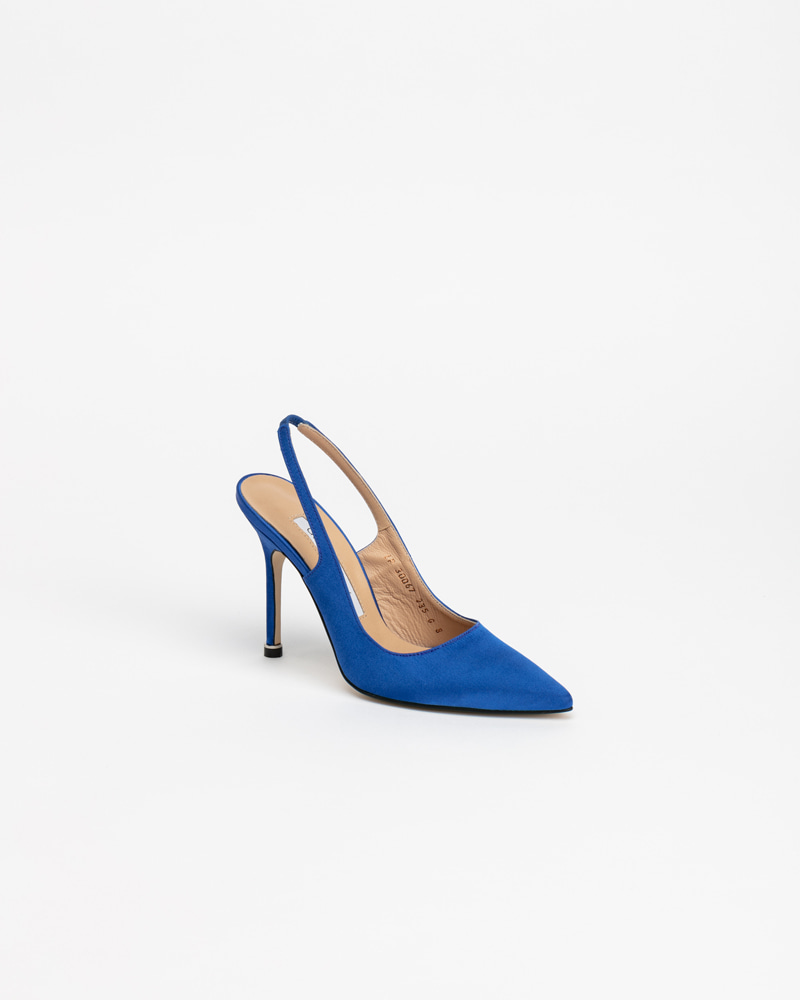 Demain Slingbacks in Cool Blue Silk
