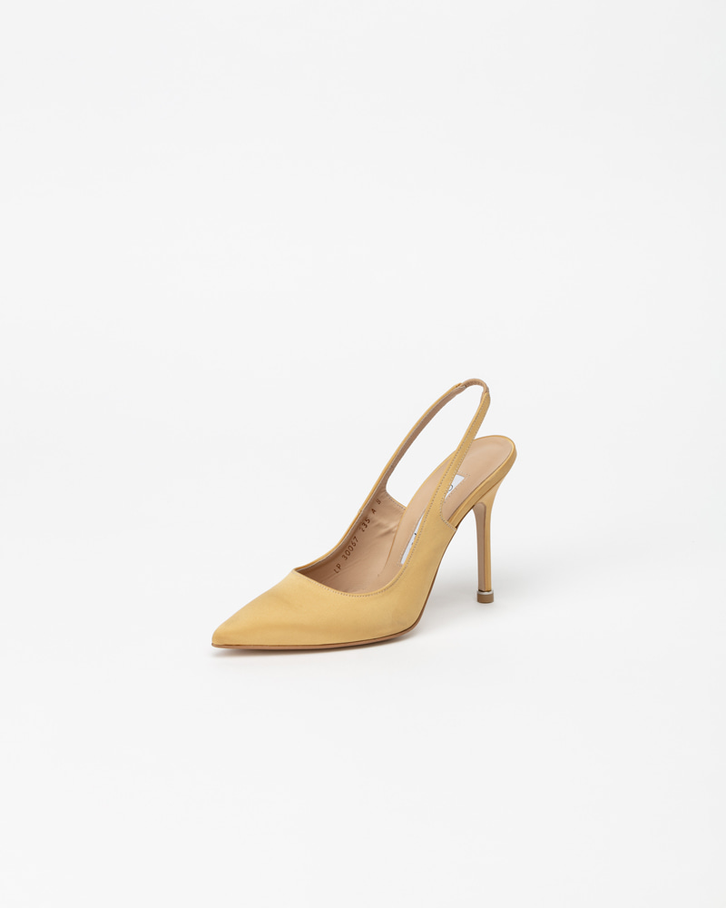 Demain Slingbacks in Royal Yellow SIlk