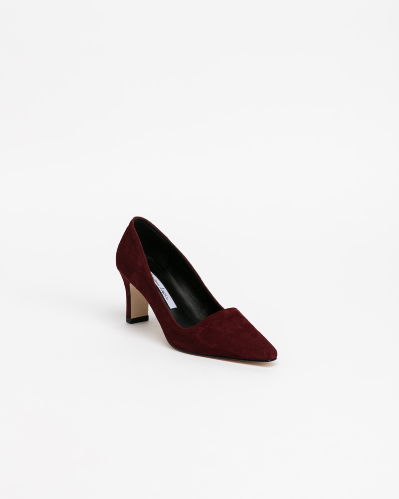 Hilma Pumps in Wine Suede