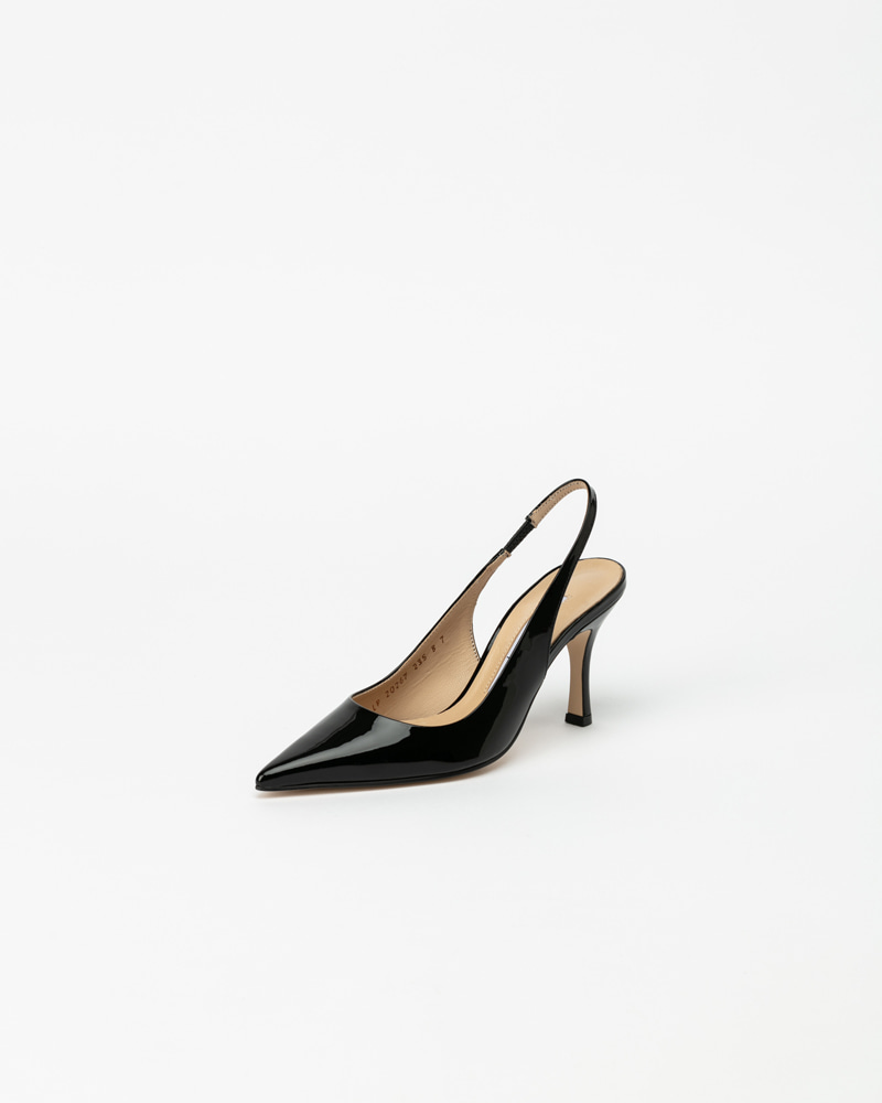 Philo HIgh Slingbacks in Black Patent