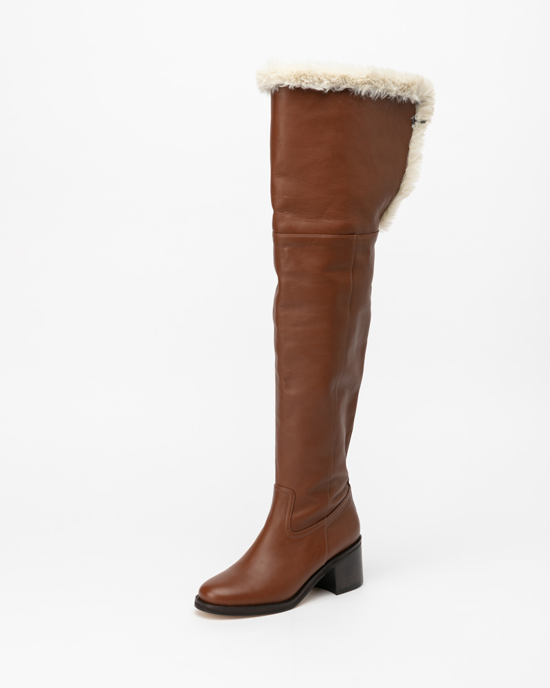 Webster Fur Lining Boots in Deep Camel