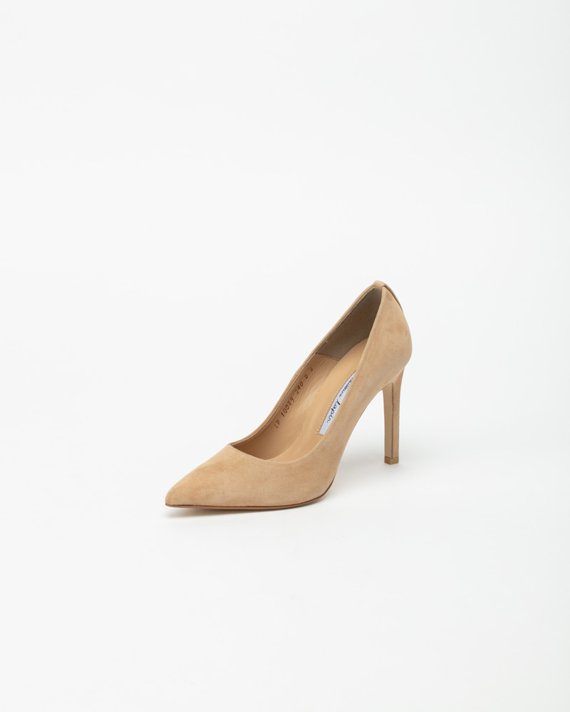 Boulon Stiletto Pumps in Beige Suede