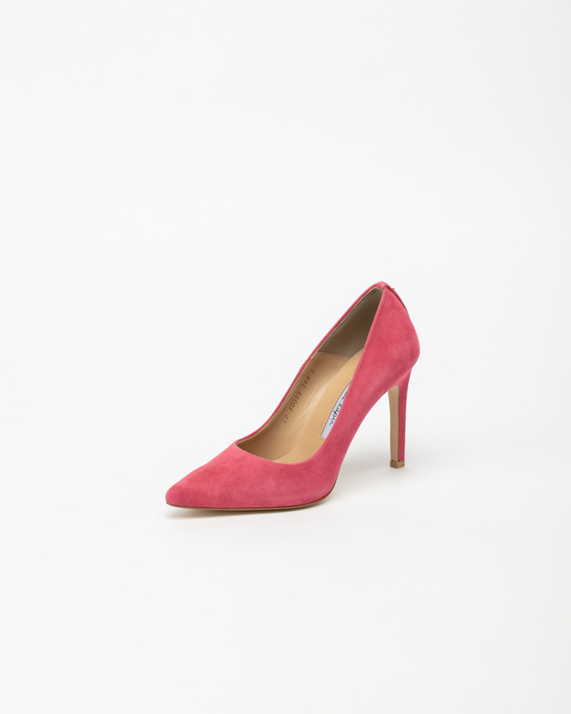 Boulon Stiletto Pumps in Pop Pink Suede