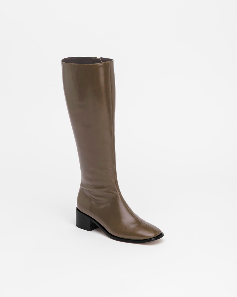 Beaucoup Riding Boots in Textured Khaki