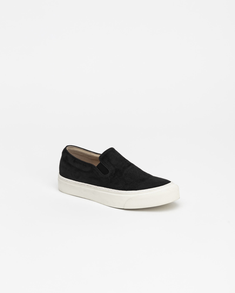 Palo Slip-on Sneakers in Black Suede