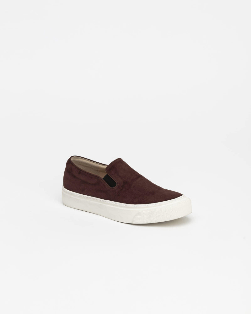 Palo Slip-on Sneakers in Dark Brown Suede