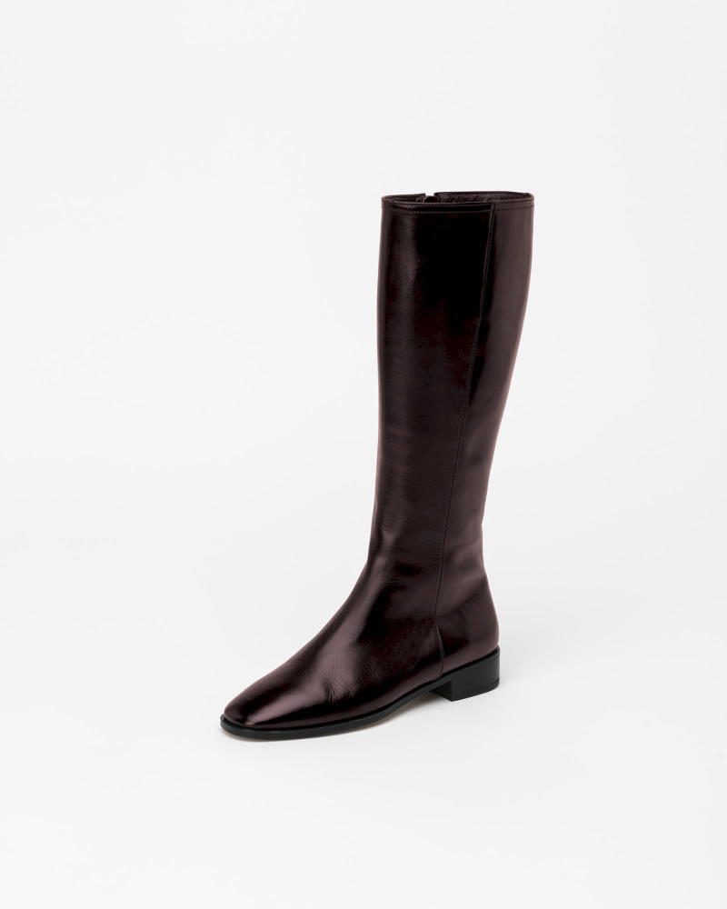Panache Riding Boots in Textured Wine