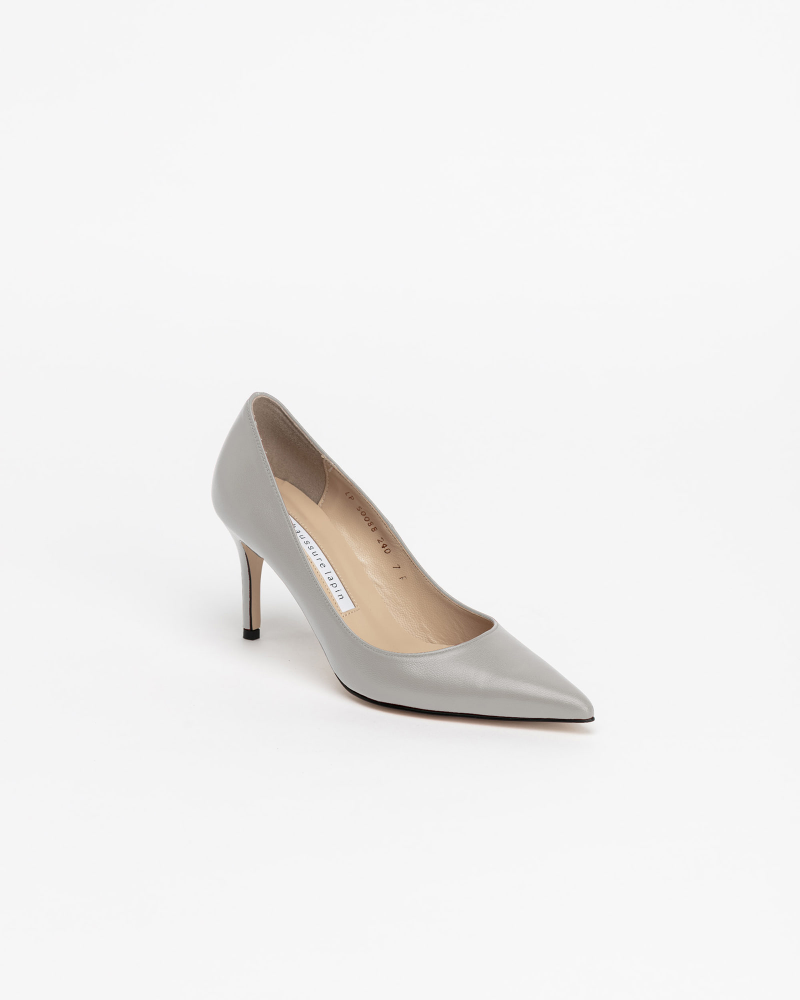 Chauffeur Stilletto Pumps in Ice Gray