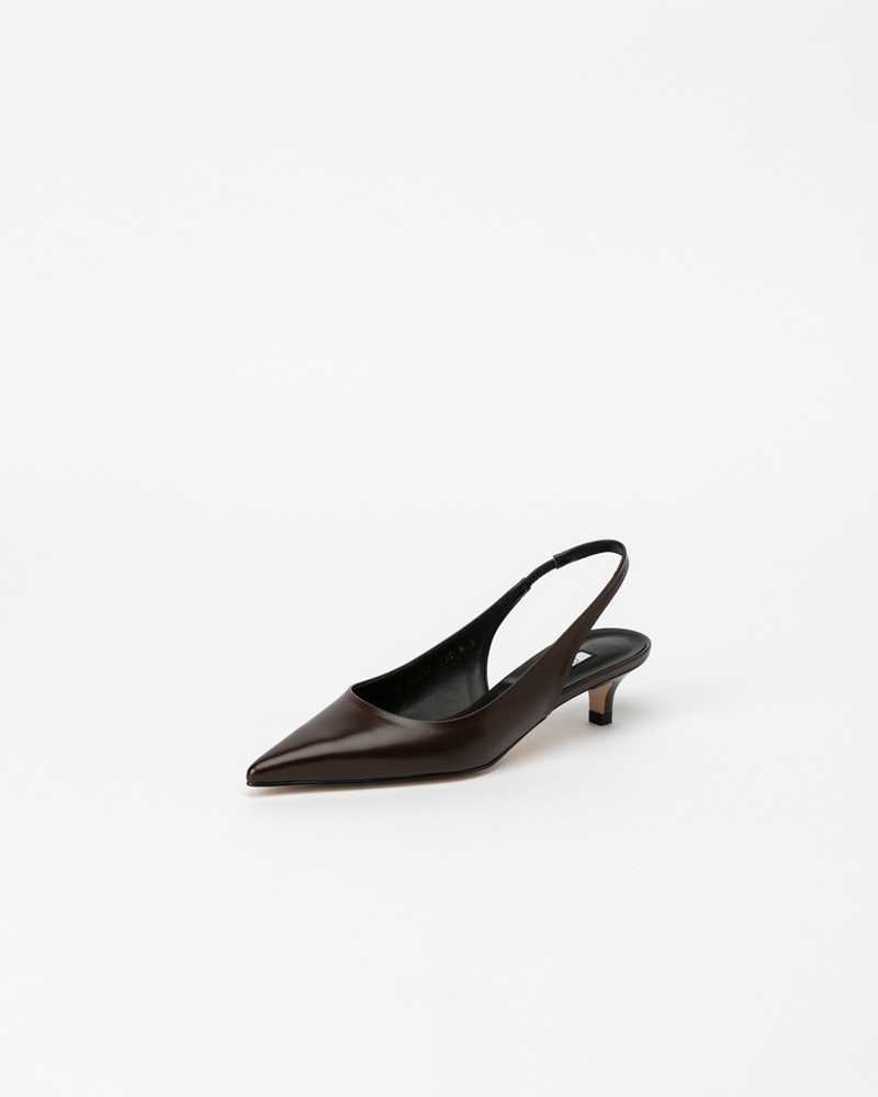 Philo Slingbacks in Dark Brown Box