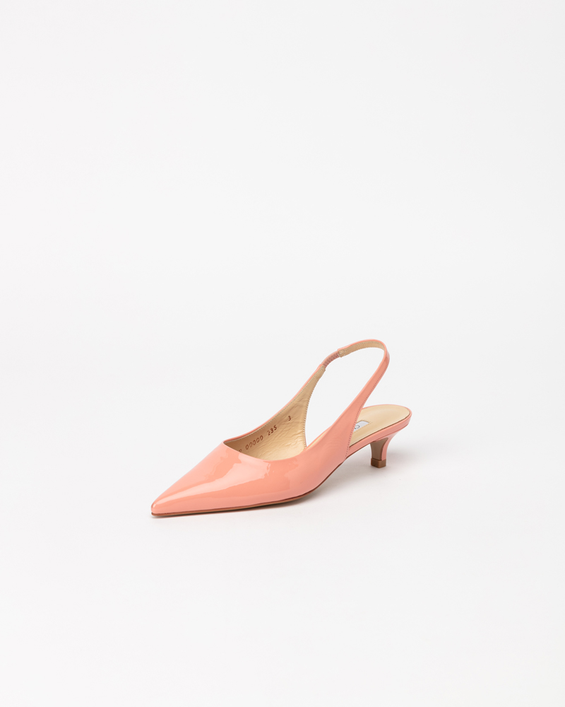 Philo Slingbacks in Coral Pink Patent