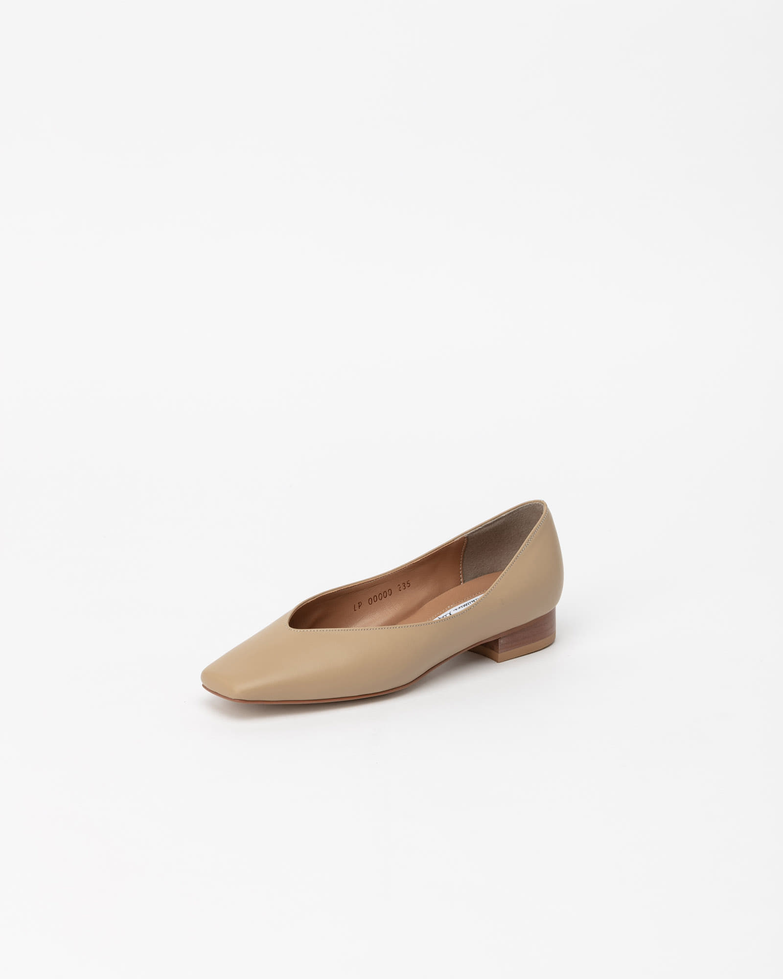 Purin Flat Shoes in Down Yellow Beige