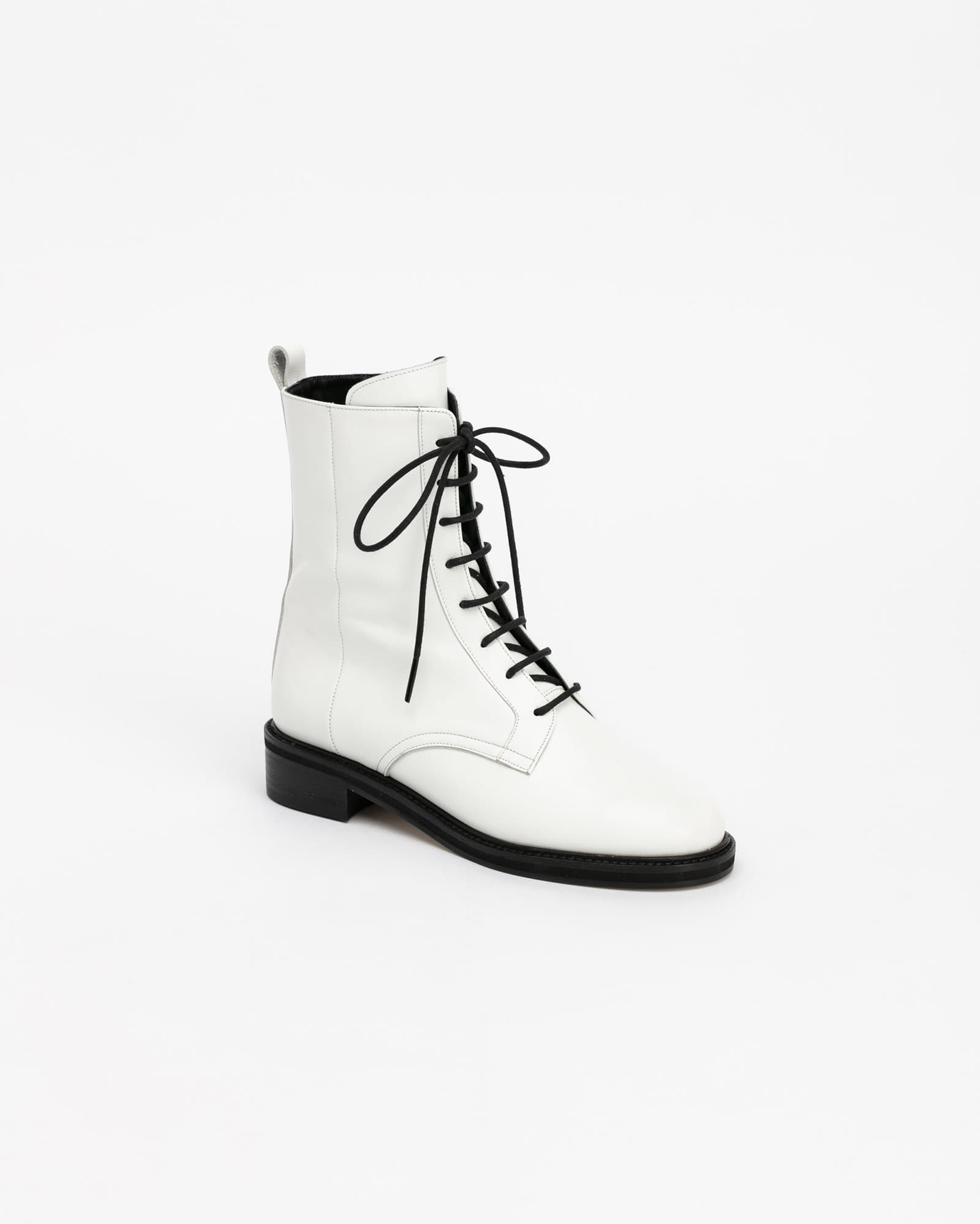 Johanna Combat Boots in White