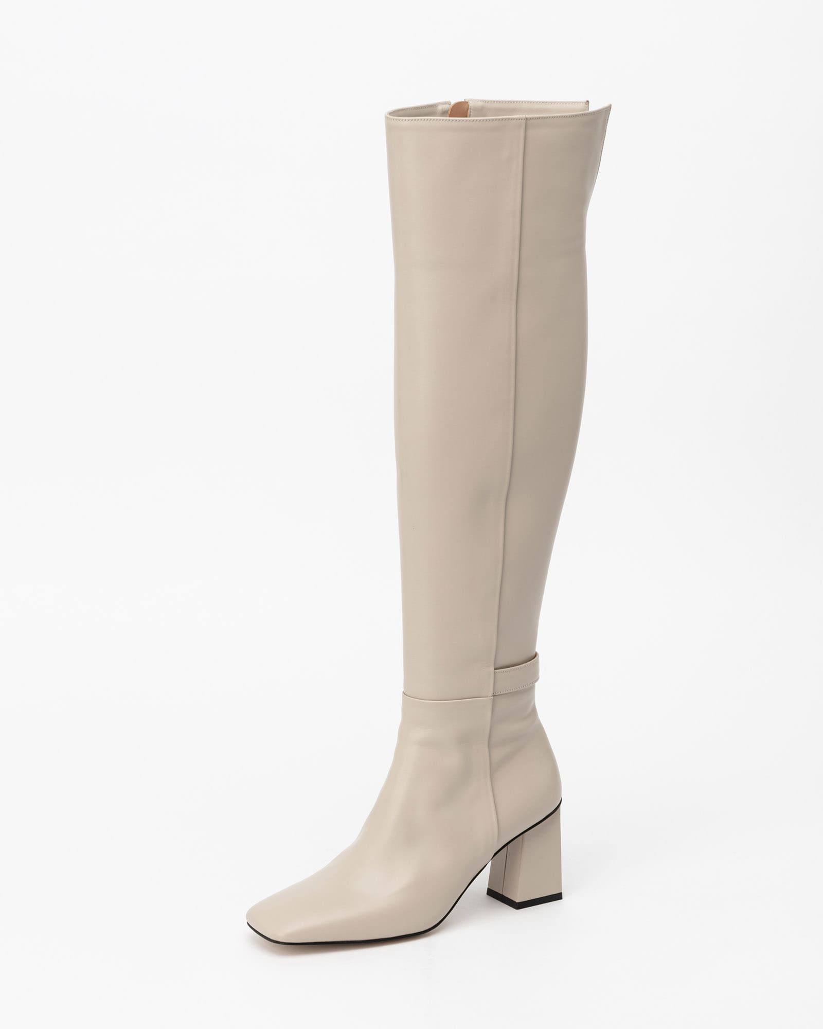 Armure Over-the-Knee Boots in Taupe Ivory