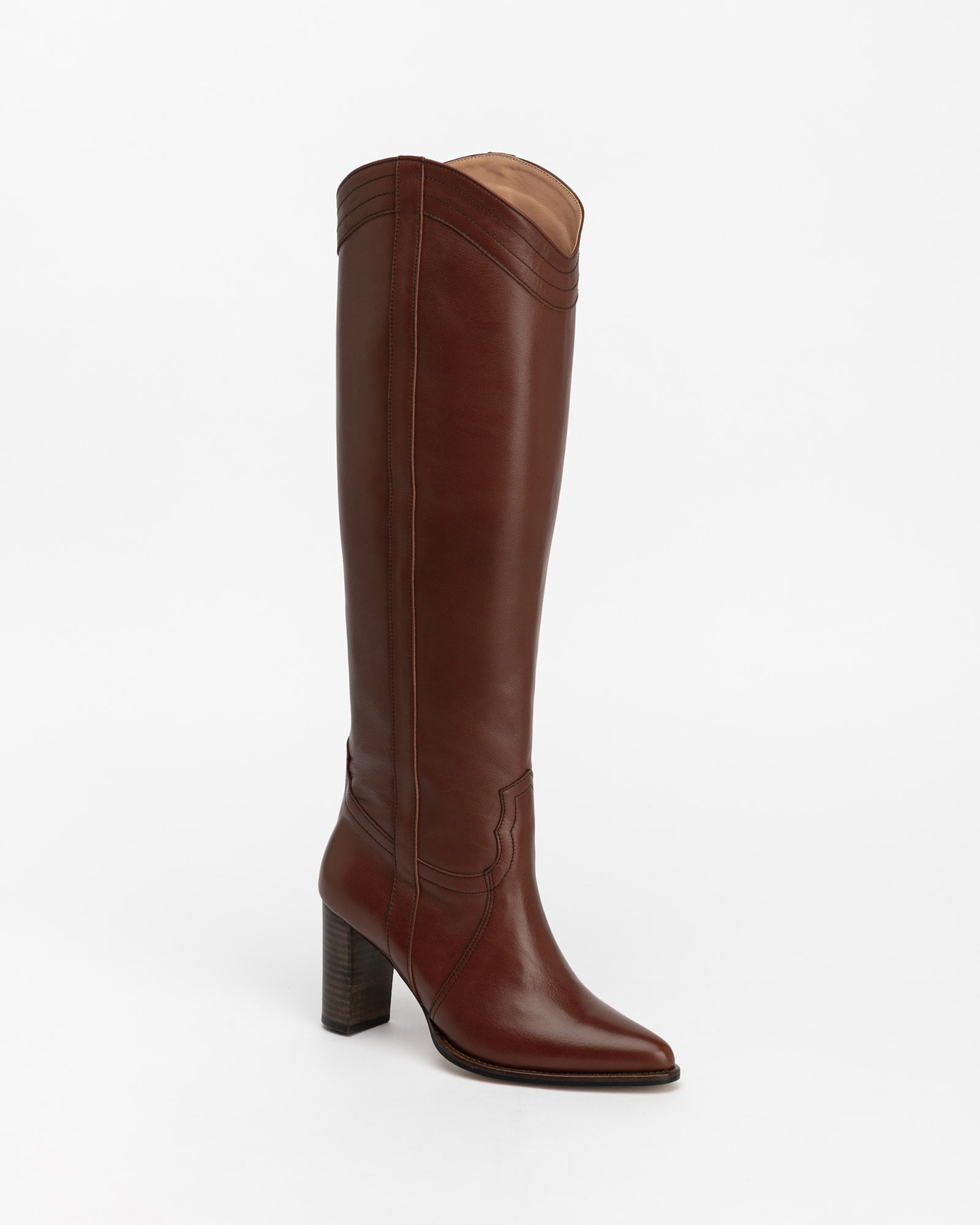 Tanae Cowboy Boots in Brown