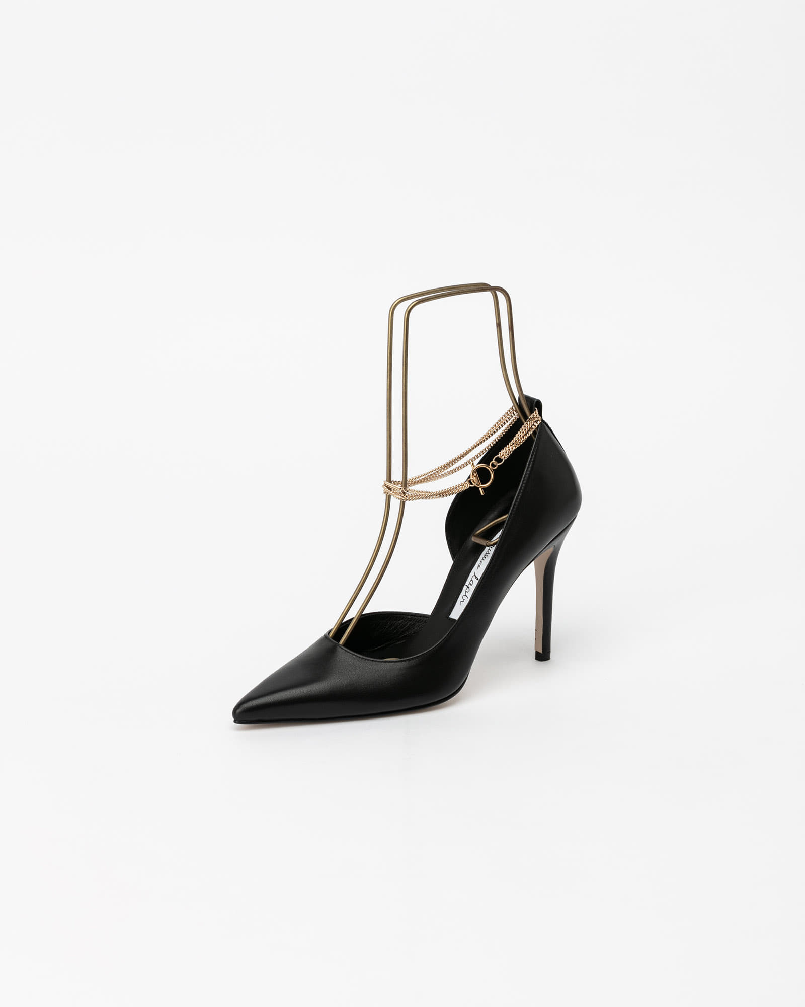Cinque Chained Stiletto Pumps in Black