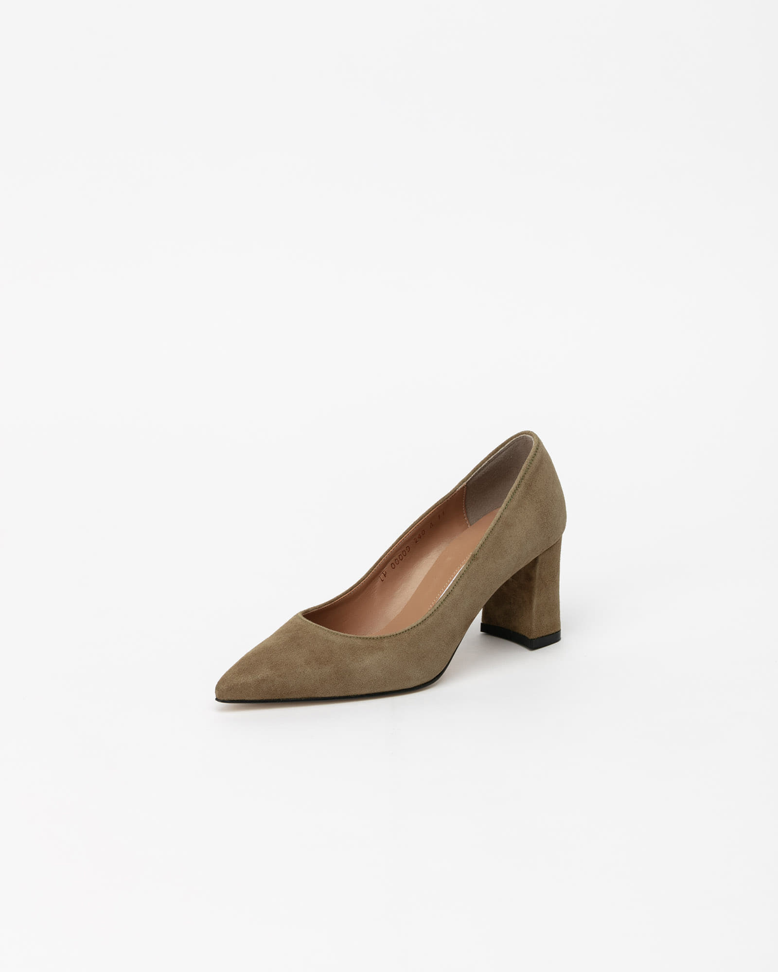 Naff Pumps in Golden Khaki Suede
