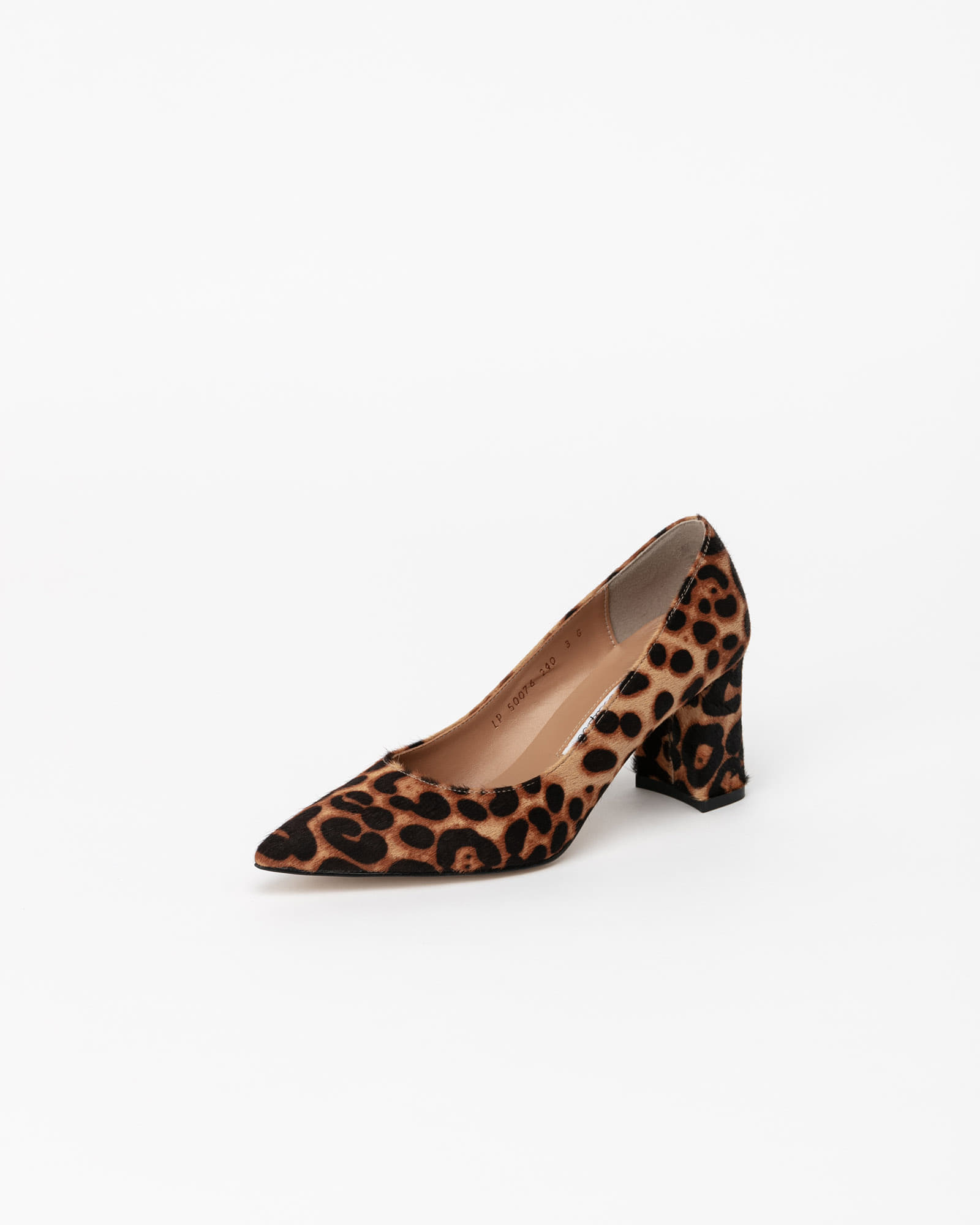Naff Pumps in Leopard Print Hair