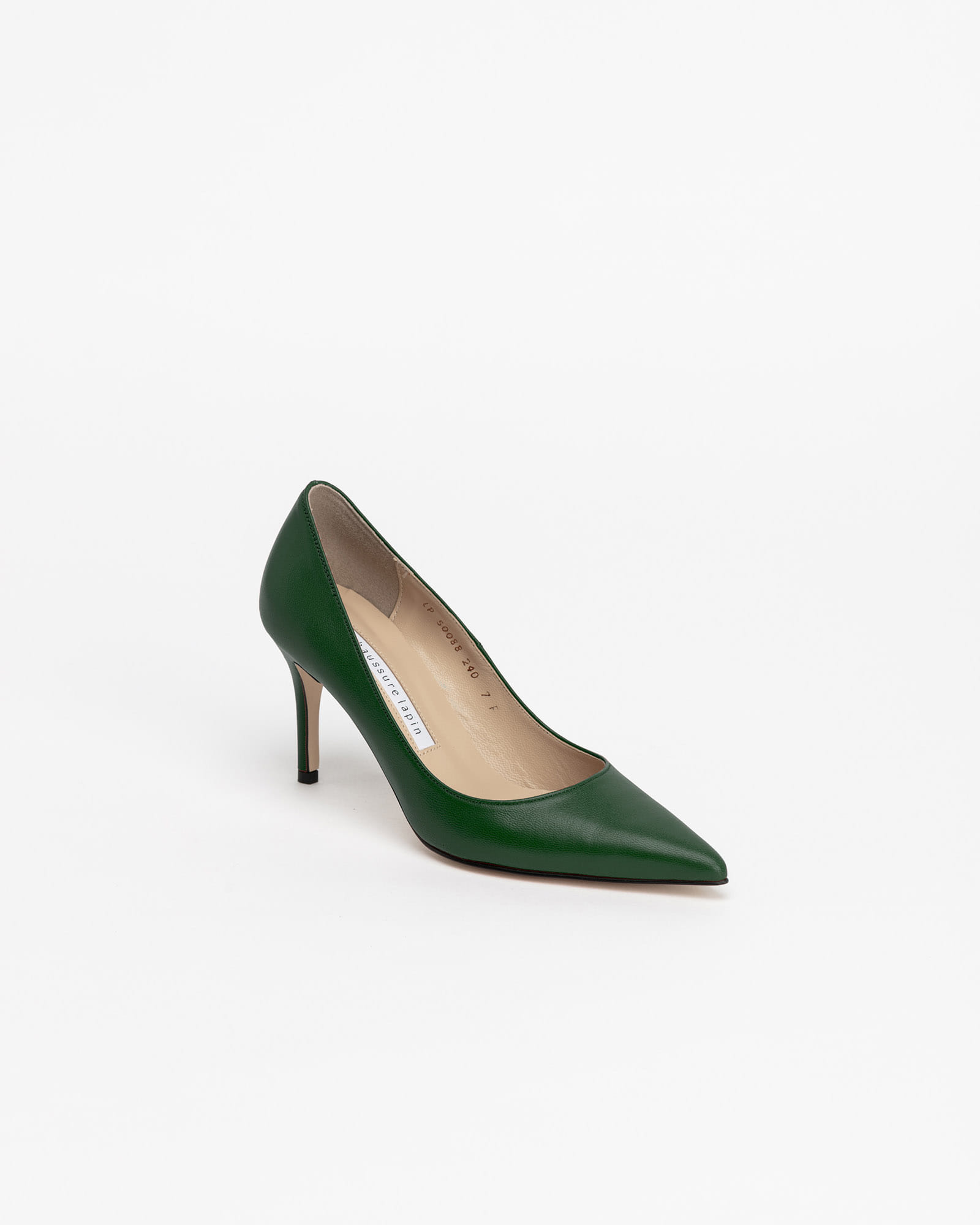 Chauffeur Stilletto Pumps in Forest Green